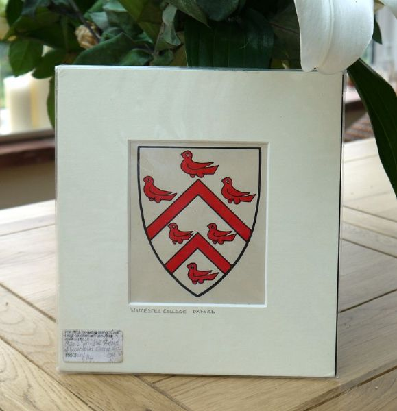 Worcester College Oxford,  Arms & Blazons